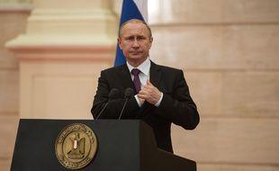Vladimir Poutine en Egypte, le 10 février 2015.