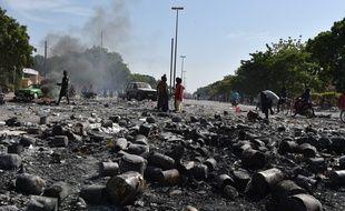 A Ouagadougou, la capitale du Burkina Faso, après les manifestations qui ont poussé le président Blaise Compaoré à la démission, le 21 octobre 2014.