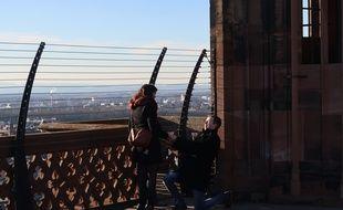 Saint-Valentin: Il demande sa compagne en mariage en haut de la cathédrale de Strasbourg