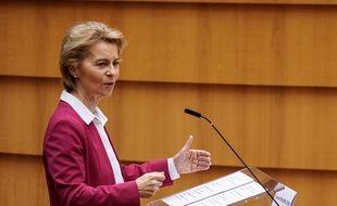La présidente de la Commission européenne Ursula von der Leyen, le 27 mai 2020.