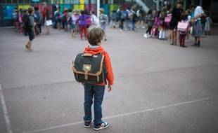 Un élève à l'école primaire à Paris le 3 septembre 2013 à Paris.