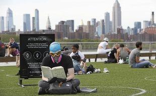 Un parc de Brooklyn, à New York à l'heure du coronavirus, le 18 mai 2020.