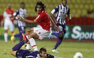 L'attaquant de Monaco Radamel Falcao contre Toulouse, le 23 août 2013, au stade Louis-II.