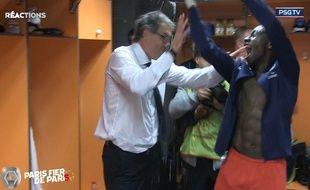 La joie de Blanc et Matuidi après le troisième titre du PSG.
