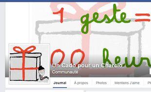 La page Facebook Un cado pour un charclo.