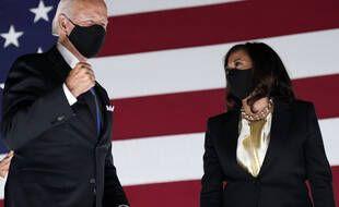 Joe Biden et Kamala Harris lors de la convention nationale démocrate, le 21 août 2020.