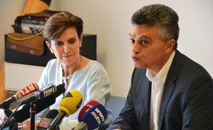 Michèle Tisseyre, avocate du MAHB, et Rémy Lévy, le président du club (Archives).