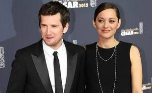 Guillaume Canet et Marion Collitard, à la cérémonie des César, à Paris, le 20 février 2014.