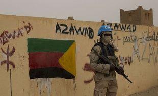 Un casque bleu à Kidal, au Mali (illustration.
