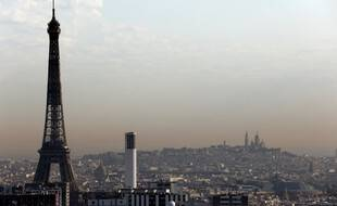 La pollution de l'air est visible à Paris comme dans de très nombreuses villes. (illustration)