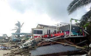 Illustration de l'ouragan Gonzalo à Pointe à Pitre en Guadeloupe