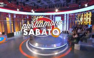 Extrait de l'émission «Parliamone Sabato» diffusée depuis septembre 2016 sur la Rai 1, supprimée après un dérapage.