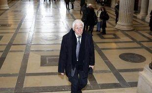 L'ex-maire de Vence, Christian Iacono arrive au palais de justice de Lyon, le 25 mars 2015
