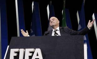 Gianni Infantino a été réélu pour un second mandat à la tête de la Fifa, le 5 juin 2019 à Paris.
