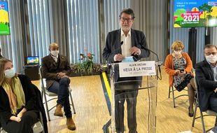 Alain Anziani, lors de son conférence de presse de rentrée à Bordeaux Métropole, le 18 janvier 2021