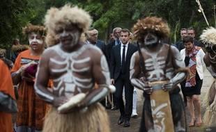Emmanuel Macron lors de sa visite en 2018 en Nouvelle-Calédonie (illustration).