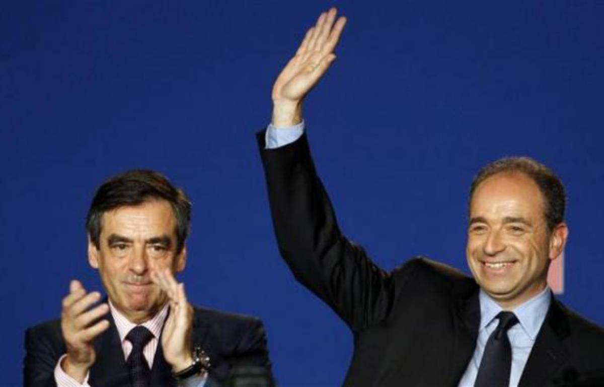 FrançoisFillon et Jean-FrançoisCopé, le 26 mai 2012, à Paris. – R. Duvignau/ REUTERS