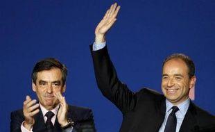 FrançoisFillon et Jean-FrançoisCopé, le 26 mai 2012, à Paris.