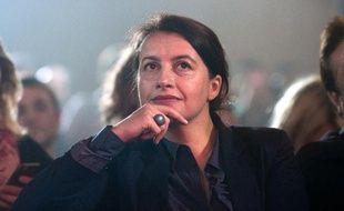 Cécile Duflot lors d'une meeting électoral d'Anne Hidalgo à Paris, le 27 mars 2014