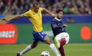Nabil Fékir a connu sa première sélection face au Brésil, le 26 mars 2015.