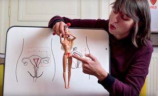 Capture d'écran de la vidéo sur l'endométriose.