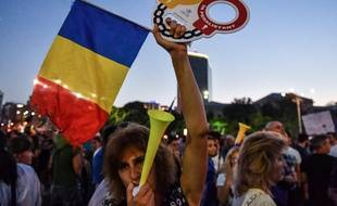 Plusieurs milliers de personnes ont manifesté contre le gouvernement roumain à Bucarest