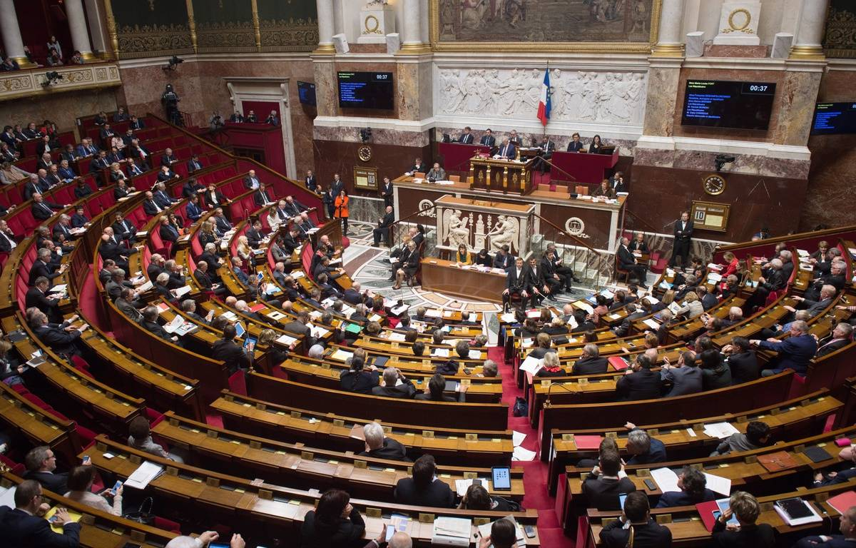 L'Assemblée Nationale est composée de 577 députés. –  CHAMUSSY/SIPA