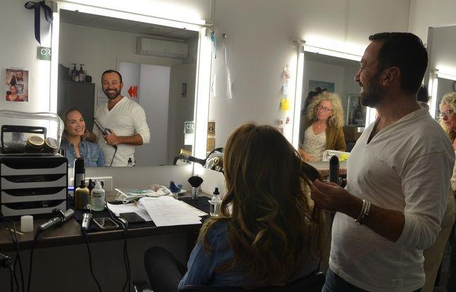 La comédienne Mélanie Maudran dans les loges de la série Un si grand soleil