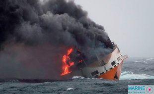 """Le """"Grande America"""" a fait naufrage au large du golfe de Gascogne."""