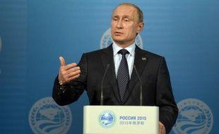 Le président russe Vladimir Poutine donne une conférence de presse à Ufa, le 10 juillet 2015