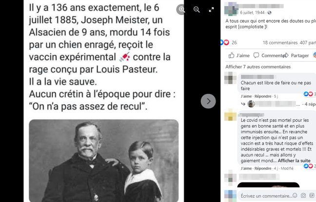 Sur Facebook, l'histoire (vraie) de Joseph Meister est très virale