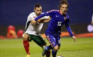 La star de la sélection croate Luka Modrić (à d.), qui évolue au Real Madrid, ne viendra pas à Rennes.