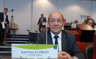 Jean-Yves Le Drian a retrouvé son siège de conseiller régional ce jeudi à Rennes.