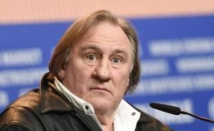 L'acteur français Gérard Depardieu, le 19 février 2016 à Berlin en Allemagne.