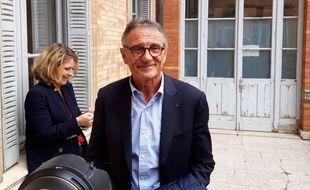 Guy Novès à la sortie du tribunal des prud'hommes de Toulouse, le 8 avril 2019.