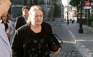 Ginette Beckrich lors du procès de Patrick Dils, en 2001, à Reims