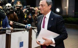 Le président de la BCE Mario Draghi le 24 octobre 2014 à Bruxelles