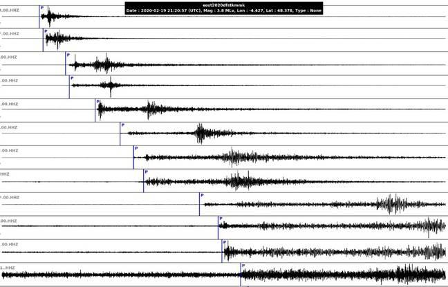 Finistère: Un tremblement de terre de magnitude 3,8 a secoué Brest