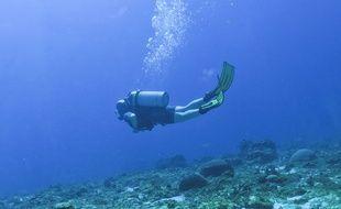 Les plongeurs ont retrouvé l'épave gisant 62 mètres sous l'eau. (Illustration)