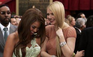 Beyoncé et Gwyneth Paltrow, complices, pour les Oscars 2007