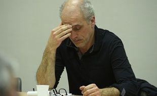 Philippe Poutou, candidat à la présidentielle du NPA, lors d'un meeting à Evry en janvier 2017
