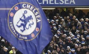Les supporters de Chelsea à Stamford Bridge.