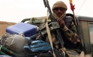 Un soldat malien dans la ville de Kidal, le 17 mai 2014 au nord du Mali