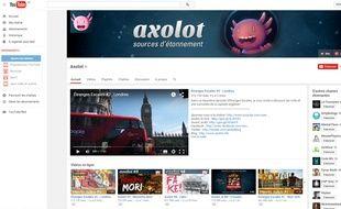 La chaîne YouTube de Patrick Baud, Axolot.