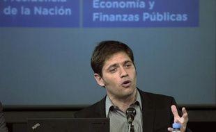 Le ministre argentin de l'Economie Axel Kicillof lors d'une conférence de presse le 31 juillet 2014 à Buenos Aires