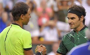Roger Federer a balayé Rafael Nadal en 8e de finale d'Indian Wells, le 15 mars 2017.