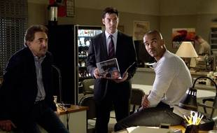 Joe Mantegna, Thomas Gibson et Shemar Moore dans la saison 9 d'Esprits Criminels.