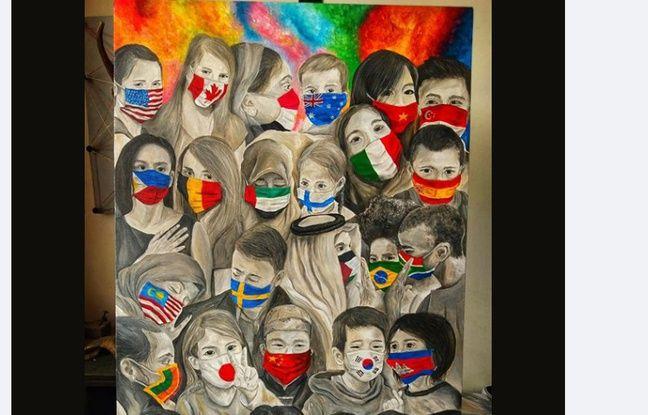 La toile de l'artiste CJ Trinidad.