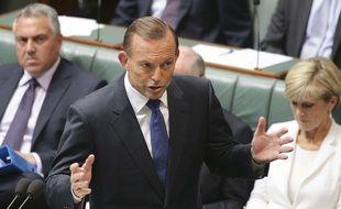 Le Premier ministre australien Tony Abbott le 23 février 2015 à Canberra.