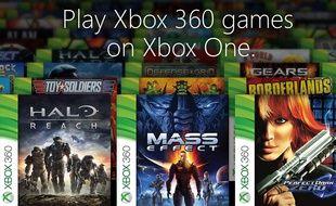 Une centaine de jeux Xbox 360 fonctionneront sur la Xbox One à partir d'octobre.